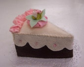 Faux Cake slice Shabby Cottage Chic Fake Food Display