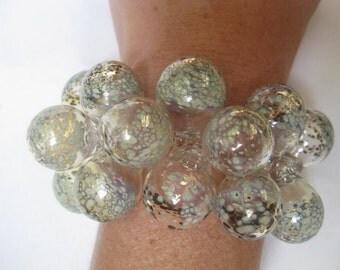 Silver Speckles Bubble Bracelet