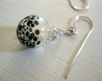 Black Speckles Earrings