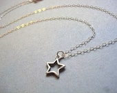 Silver Star Necklace simple and delicate