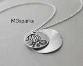 Silver Coin Necklace in sterling silver