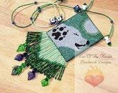 Bead Pattern Midnight Wolf Loom or Square stitch