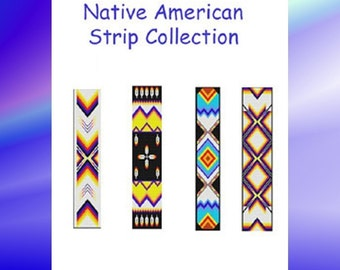 Bead Pattern Native American Strips Collection Peyote/ Brick