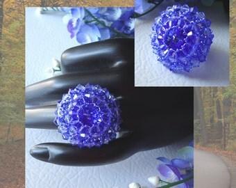 Swarovski Crystal Rivoli Sapphire Ring