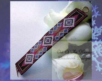 Bead PATTERN  Tamaya Native American Cuff Bracelet Loom Or Square Stitch