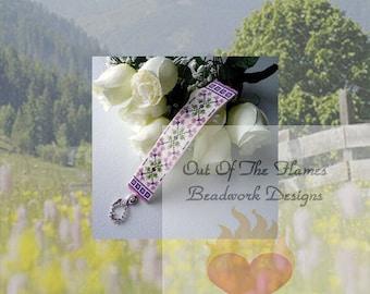 Bead PATTERN Anna's Garden Cuff Bracelet Loom Or Square Stitch