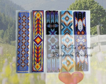 Bead PATTERNS Ebook Native American Cuff Collection Loom Or Square stitch