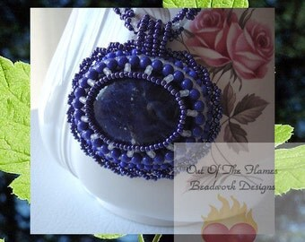 Midnight Blue Beaded Necklace Sodalite