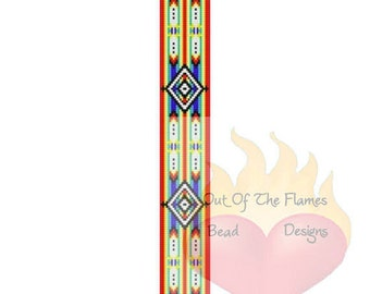 Bead Pattern Native American Twin Feather Square / Loom