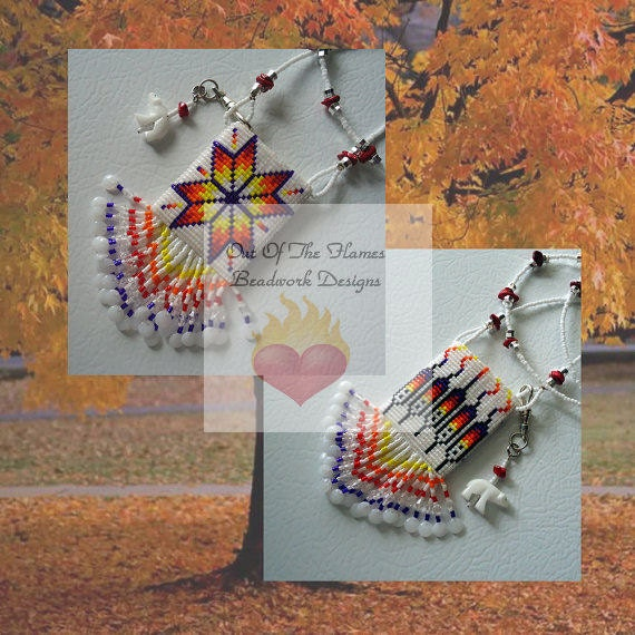 Bead PATTERN Morning Star Reversible Amulet Bag Loom or Square Stitch