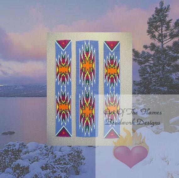 Bead pattern Native American Strip Set Loom Square stitch