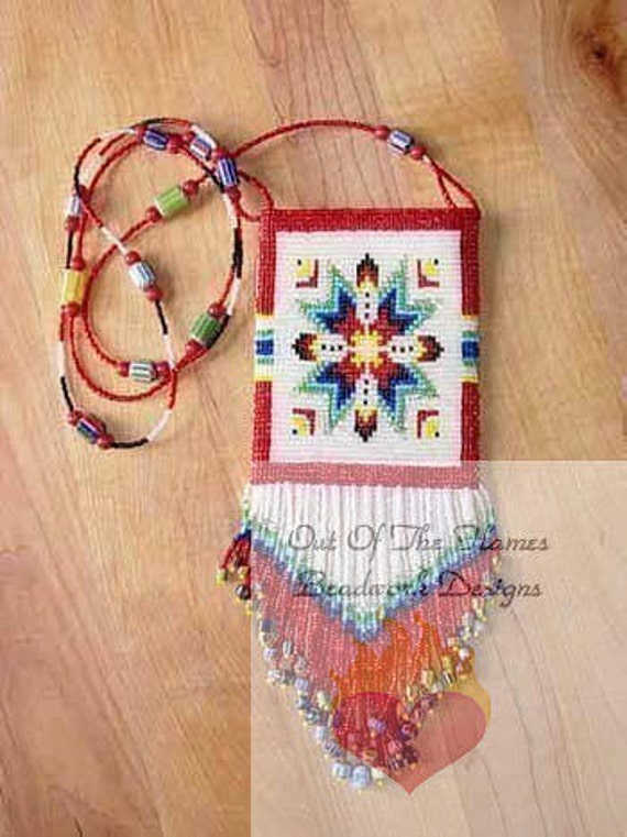 Bead Pattern Lakota Star Amulet panel Loom or Square stitch