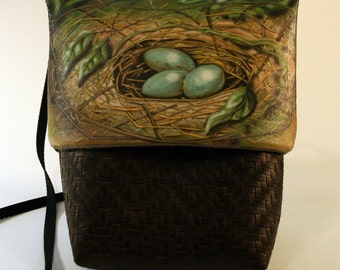 Nest and Eggs Small Grommet Bag