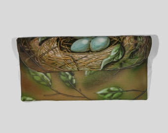 Nest and Eggs Wallet Clutch