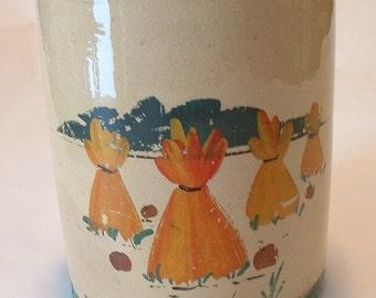 Vintage Older Than Dirt Stoneware Cookie Jar