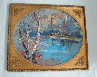 Morris Katz . listed artist . Vintage Large Oil Painting