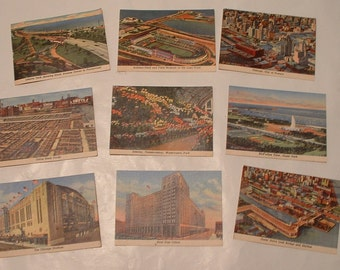 Chicago . Vintage  9  Trade Cards