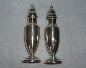 Elegant Vintage Silverplate Salt and Pepper Shakers