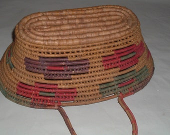Vintage Native American Hand Woven Basket