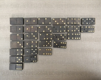 Steampunk?  Vintage Set of 27 Six over Six Dominoes  - for  Mixed Media Project?