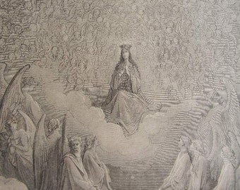 Gustave Dore (1832-1883) Plate 60 - Purgatory and Paradise by Dante
