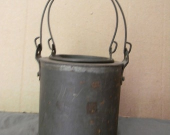 Vintage Antique Shaker Handmade Small Tin Pail with Insert