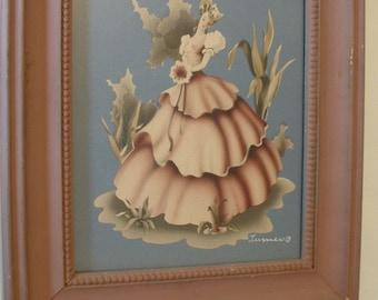 Vintage Framed Turner Print of Victorian Lady
