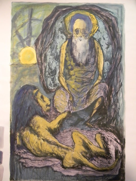 Benton Murdoch Spruance (1904-1967)   . listed artist . St Jerome Print