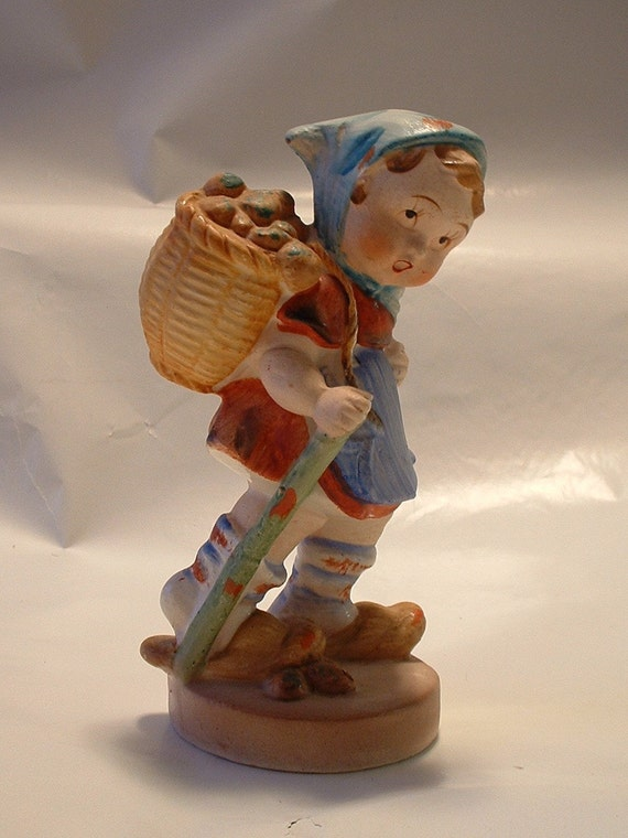 Items similar to vintage porcelain hummel like figurine for Vintage sites like etsy