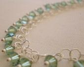Swarovski Crystal Sterling Silver Bracelet