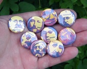 set of 9 anarchist 1-inch pinback buttons