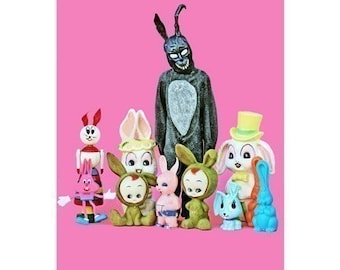 donnie darko bunny print 8 x 12 What The Frank