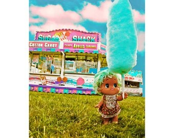 cotton candy print aceo size SUGAR SHACK SNACK