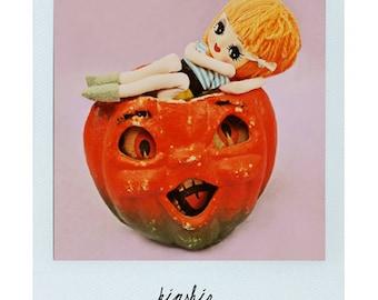 halloween doll pumpkin polaroid print KINSHIP