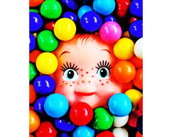 doll candy print 8 x 12 GUMB OLIVER