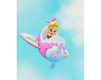 plane rainbow doll print 5 x 7 JUST PLANE CUTE