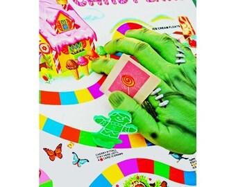 frankenstein candyland print 8 x 12 FRANKEN FUN