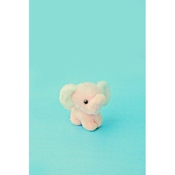 baby elephant print aceo size ELONE