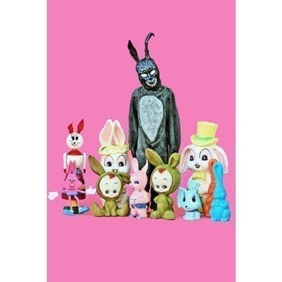 donnie darko bunny print 8 x 12 What The Frank