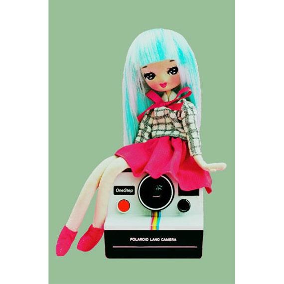 polaroid camera girl print 5 x 7 CLICKSTART MY HEART