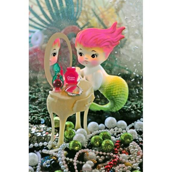 mermaid print 8 x 12 I SEA ME