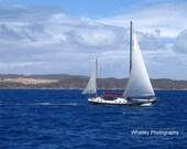 Sail Boat Photograph, ship photo, boat print, sail boat print, sailing art, ocean decor, boat decor, ocean art, ocean wall art, sail art