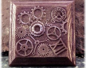 Steampunk Clockworks Dark Bronze Glycerin Soap Amber Fragrance