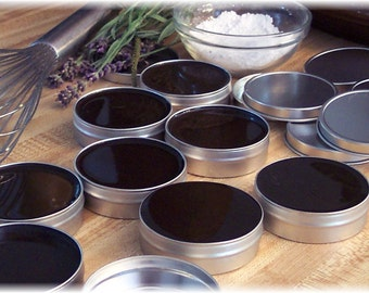 Black Drawing Salve Made from Traditional Amish Recipe with Pine Tar and Herbal Infusion, 2 ounce tin