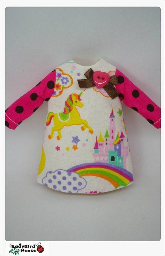 LADYBIRD HOUSE Blythe Outfit Rainbow Dress - B