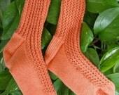 Mock My Socks Off Pattern - Womens Size Med-Lg Knit Pattern - PDF