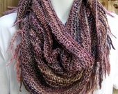 Shawl hand knit versatile shawl scarf Sugar Plum Ready to Ship