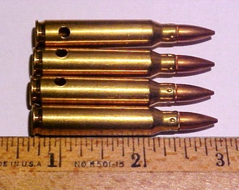 4 Brass Bullet Shells/Casings, 59mm