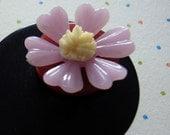SWEEET PEA flower pin brooch
