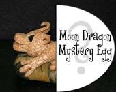 Mystery Moon Dragon Egg - Middlin Dragon on a Rock